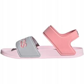 Sandale pentru copii adidas Adilette Sandal K gri-roz FY8849 1