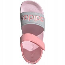 Sandale pentru copii adidas Adilette Sandal K gri-roz FY8849 2