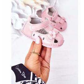 Apawwa Sandale pentru copii cu flori roz cu velcro 3