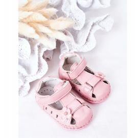 Apawwa Sandale pentru copii cu flori roz cu velcro 1