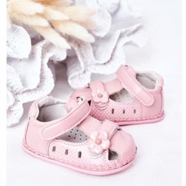 Apawwa Sandale pentru copii cu flori roz cu velcro 4