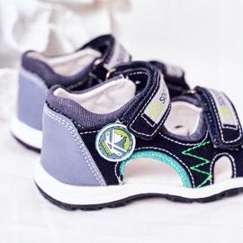 EVE Sandale de fotbal bleumarin pentru copii, cu velcro albastru marin multicolor 4