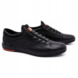 Polbut Pantofi casual pentru bărbați din piele K23 negru 1