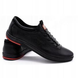 Polbut Pantofi casual pentru bărbați din piele K23 negru 2