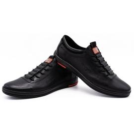 Polbut Pantofi casual pentru bărbați din piele K23 negru 4