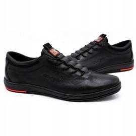 Polbut Pantofi casual pentru bărbați din piele K23 negru 3