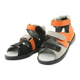 Sandale profilactice înalte Mazurek 291 gri portocaliu 1