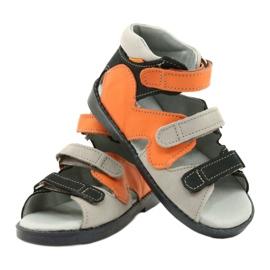 Sandale profilactice înalte Mazurek 291 gri portocaliu 3