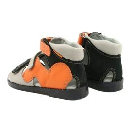 Sandale profilactice înalte Mazurek 291 gri portocaliu 2