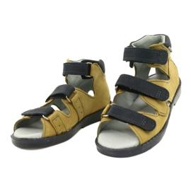 Sandale profilactice înalte Mazurek 291 gri portocaliu galben 1