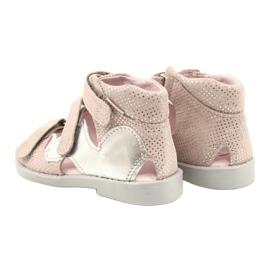 Sandale profilactice înalte Mazurek 291 roz-argintiu 2