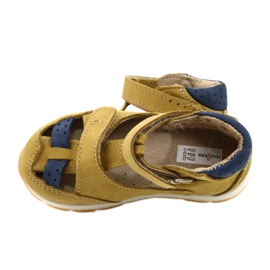 Sandale napi băieți Mazurek 1187 c. Galben albastru marin 4