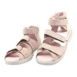 Sandale profilactice înalte Mazurek 291 roz-argintiu 1