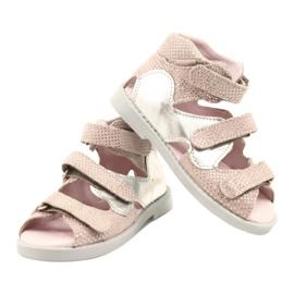 Sandale profilactice înalte Mazurek 291 roz-argintiu 3