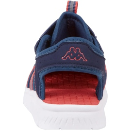 Pantofi pentru copii Kappa Kyoko, bleumarin și portocaliu 260884K 6744 albastru marin portocale 4