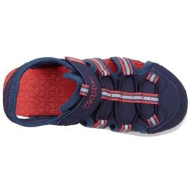 Pantofi pentru copii Kappa Kyoko, bleumarin și portocaliu 260884K 6744 albastru marin portocale 1