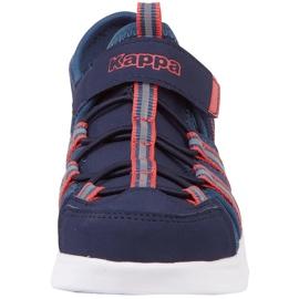 Pantofi pentru copii Kappa Kyoko, bleumarin și portocaliu 260884K 6744 albastru marin portocale 3