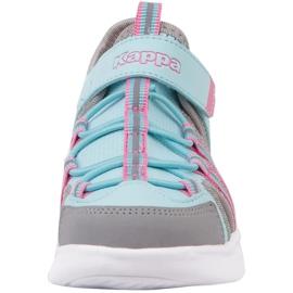 Pantofi pentru copii Kappa Kyoko albastru-gri 260884K 6316 roz 3