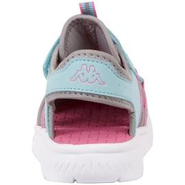 Pantofi pentru copii Kappa Kyoko albastru-gri 260884K 6316 roz 4