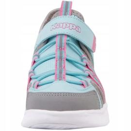Pantofi Kappa Kyoko Jr 260884K 6316 albastru roz gri 3
