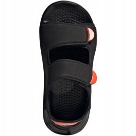 Sandale copii Adidas Swim Sandal C negru FY8936 1