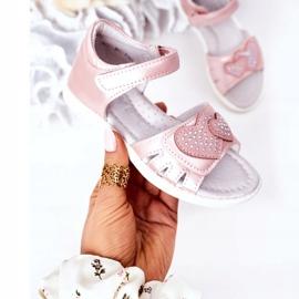PE1 Sandale pentru copii cu velcro roz inima mea 3