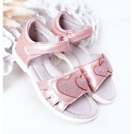 PE1 Sandale pentru copii cu velcro roz inima mea 2