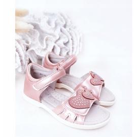 PE1 Sandale pentru copii cu velcro roz inima mea 1