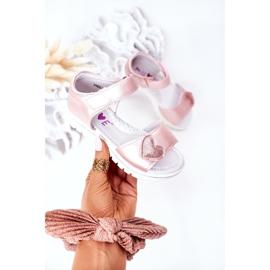 PE1 Sandale pentru copii cu velcro roz dulce 3