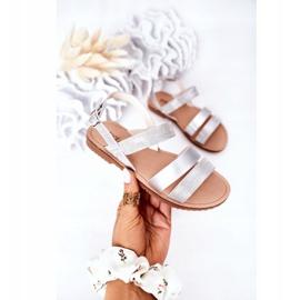 FR1 Sandale argintii Natalie Shiny pentru copii 3