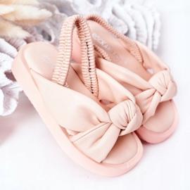 FR1 Sandale pentru copii cu gumă cu bule roz roz 2