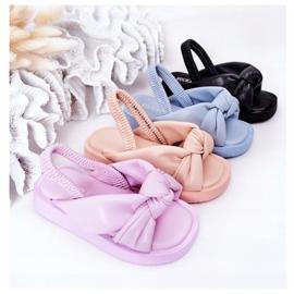 FR1 Sandale pentru copii cu gumă cu bule roz roz 1