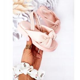 FR1 Sandale pentru copii cu gumă cu bule roz roz 3