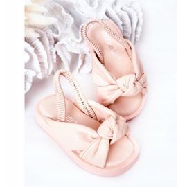 FR1 Sandale pentru copii cu gumă cu bule roz roz 4