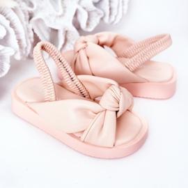FR1 Sandale pentru copii cu gumă cu bule roz roz 5