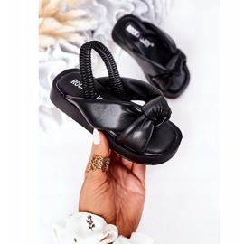 FR1 Sandale pentru copii cu manșetă Bubble Gum Negru 3