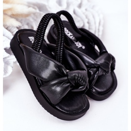 FR1 Sandale pentru copii cu manșetă Bubble Gum Negru 2