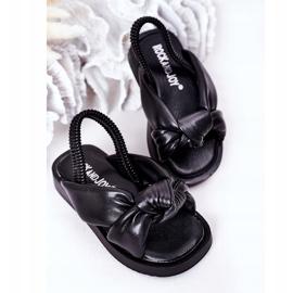 FR1 Sandale pentru copii cu manșetă Bubble Gum Negru 4