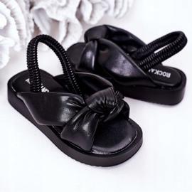 FR1 Sandale pentru copii cu manșetă Bubble Gum Negru 5