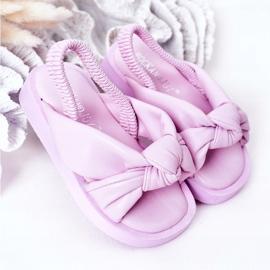 FR1 Sandale pentru copii cu gumă de sticlă violet cu nervuri 2