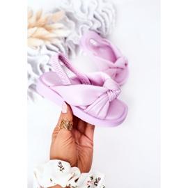 FR1 Sandale pentru copii cu gumă de sticlă violet cu nervuri 3