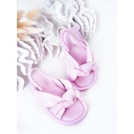 FR1 Sandale pentru copii cu gumă de sticlă violet cu nervuri 4