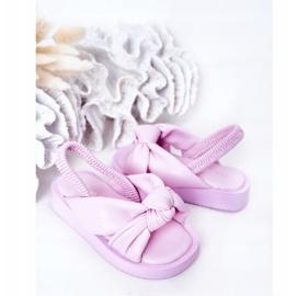 FR1 Sandale pentru copii cu gumă de sticlă violet cu nervuri 5