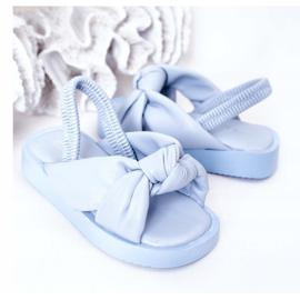 FR1 Sandale pentru copii cu gumă cu bule albastre cu nervuri albastru 4