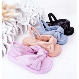 FR1 Sandale pentru copii cu gumă cu bule albastre cu nervuri albastru 1