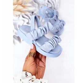 FR1 Sandale pentru copii cu dulceață albastră cu nervuri albastru 3
