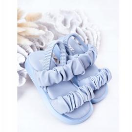 FR1 Sandale pentru copii cu dulceață albastră cu nervuri albastru 2