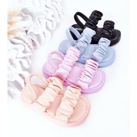 FR1 Sandale pentru copii cu dulceață albastră cu nervuri albastru 1