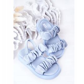FR1 Sandale pentru copii cu dulceață albastră cu nervuri albastru 4