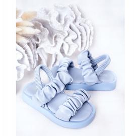 FR1 Sandale pentru copii cu dulceață albastră cu nervuri albastru 5